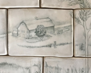 Handmade Tiles for Interior Project - Barn