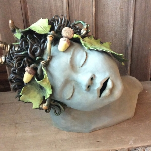 Head With Crown of Acorns