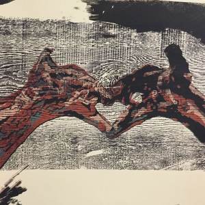 Cast Wax, Woodblock Reduction Prints