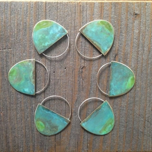Patina Half Oval Earrings