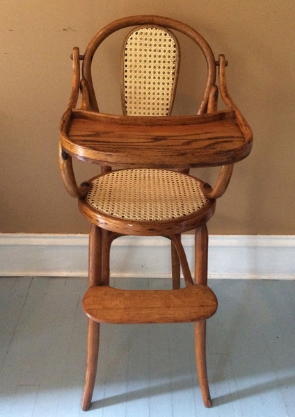Caned High Chair