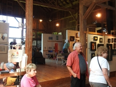 Fisher's Barn was converted to studio space ages ago. It now plays host to 14 artists during the annual Stagecoach Run Art Festival.  <em>(Photo courtesy GreatWesternCatskills.com)</em>