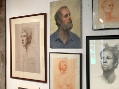 Portraits and studies by Janet Wentworth Erickson. <em>(Photo courtesy GreatWesternCatskills.com)</em>