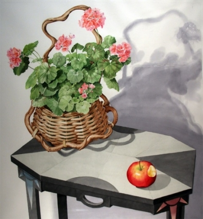 Geraniums and Apple