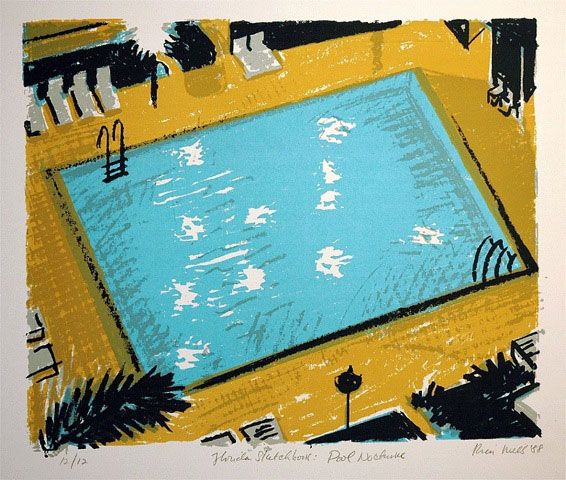 Pool Nocturn by Richard Kirk Mills