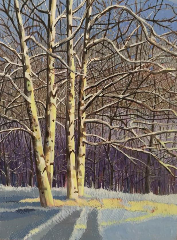 Four Birches by Jane Carr