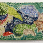 Sea Caterpillar Stoneware Tiles by Amy Cannon