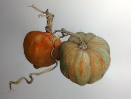 Two Pumpkins by Eileen Crowell