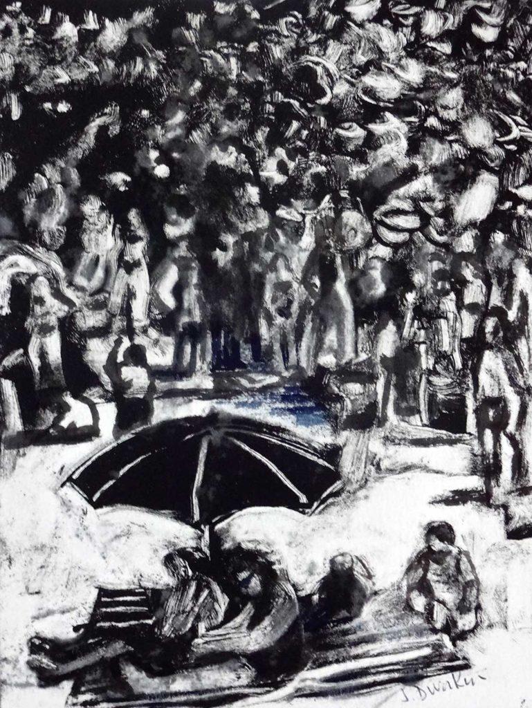 Monoprint by Joan Dworkin
