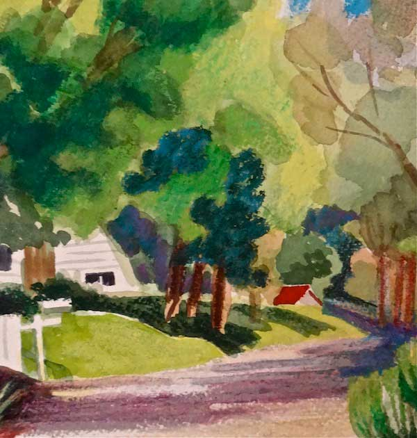 Watercolor by Joan Dworkin