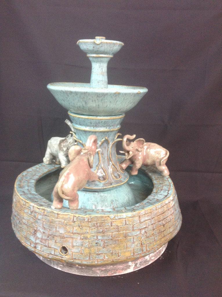 Elephant Fountain by Rhonda Engel