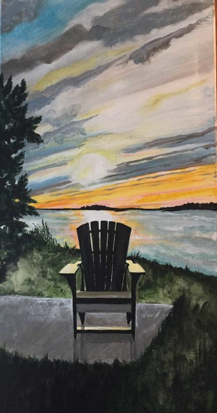 Sunset on St. Lawrence by Kathleen Gallagher