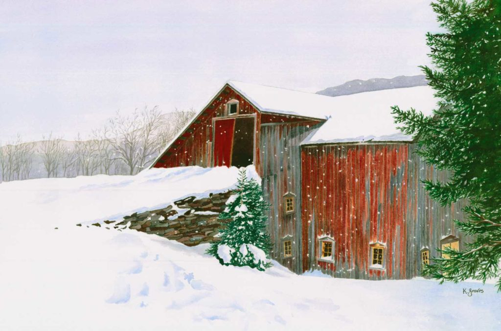 Wolf Hollow Barn by Karen Graves