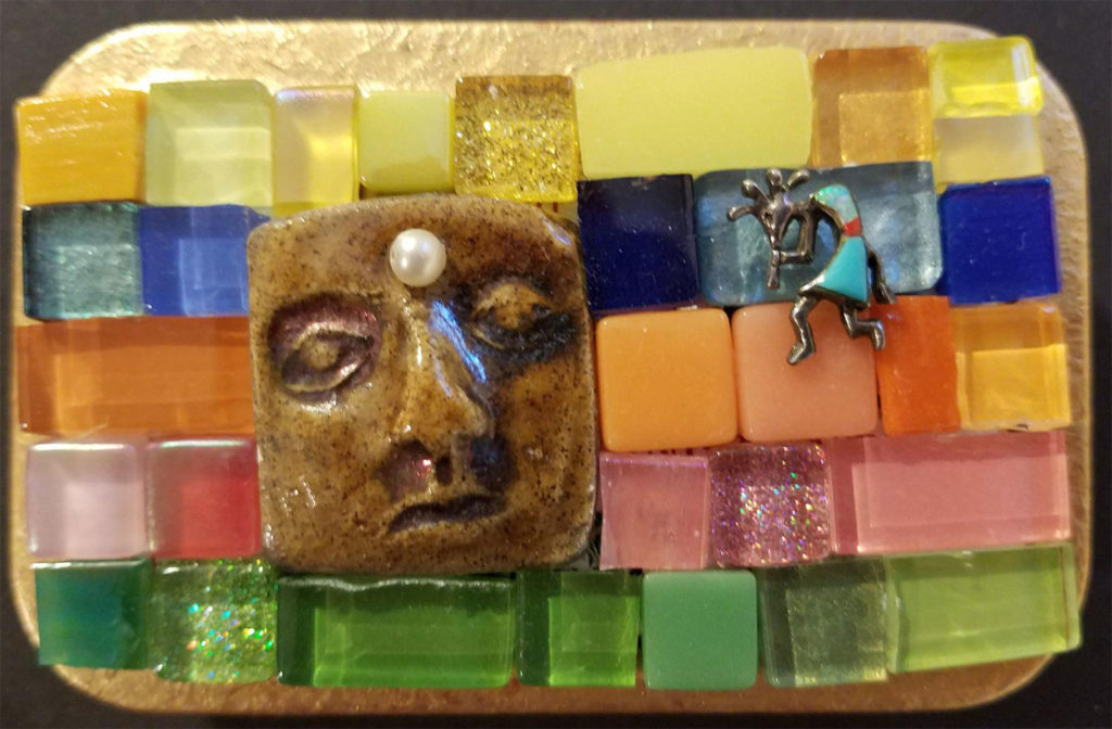 Mosaic box by Margo Bryan Petersen
