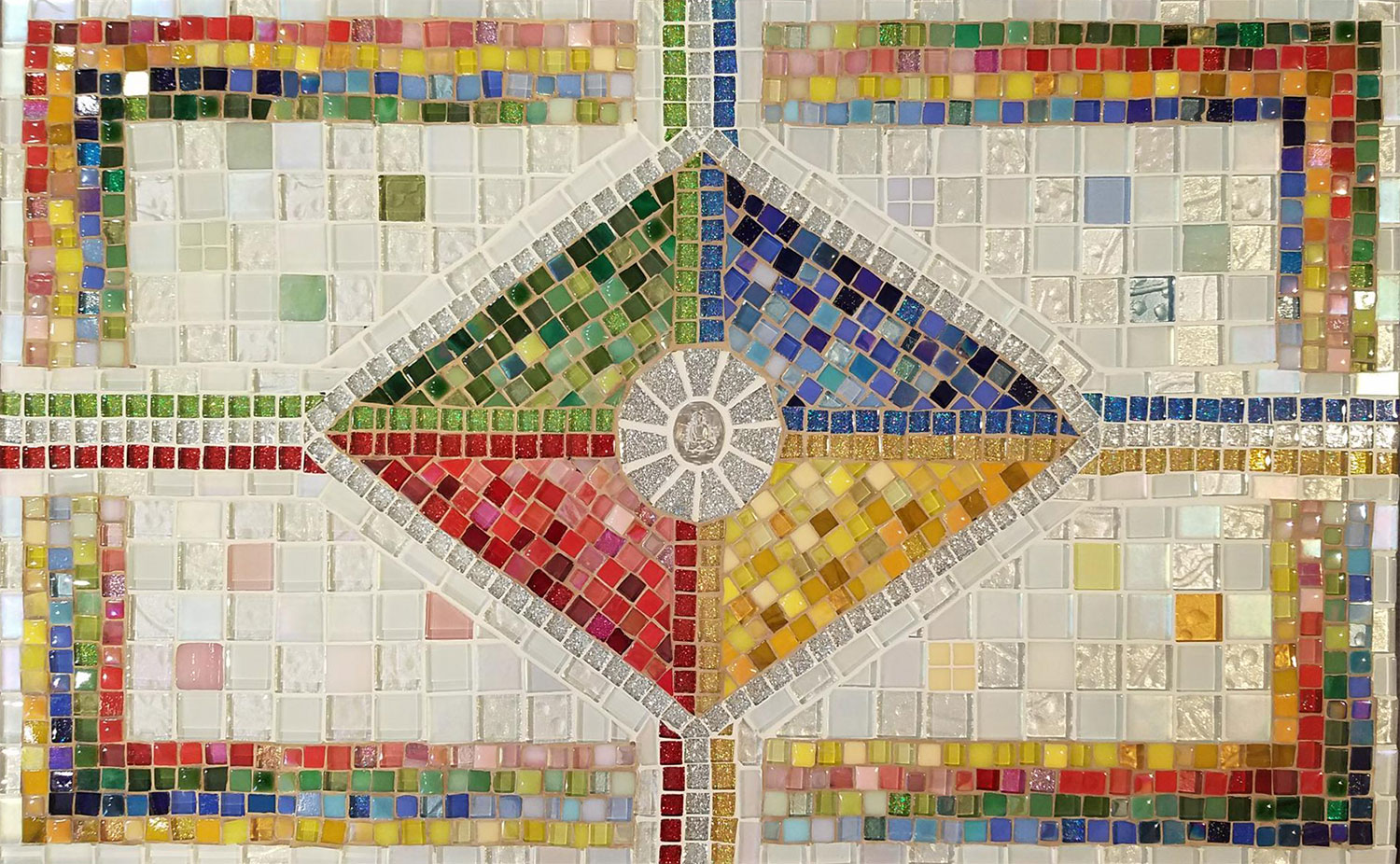 Five Directions Tile Table by Margo Bryan Petersen