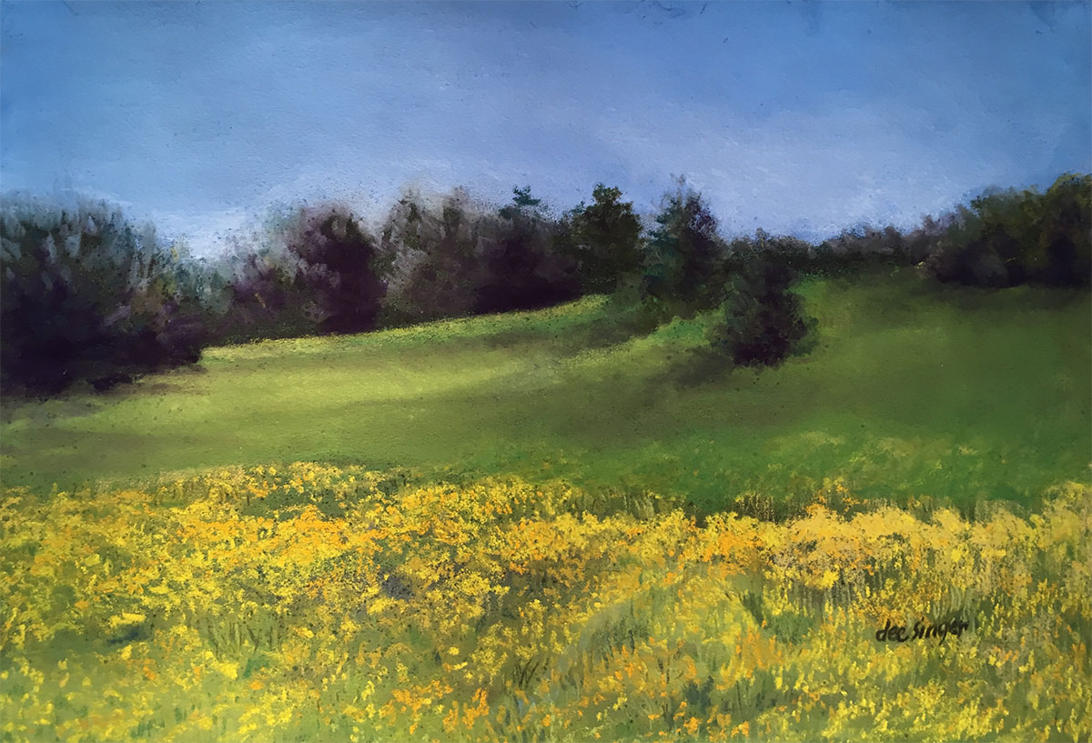 Yellow Field by Dee Singer