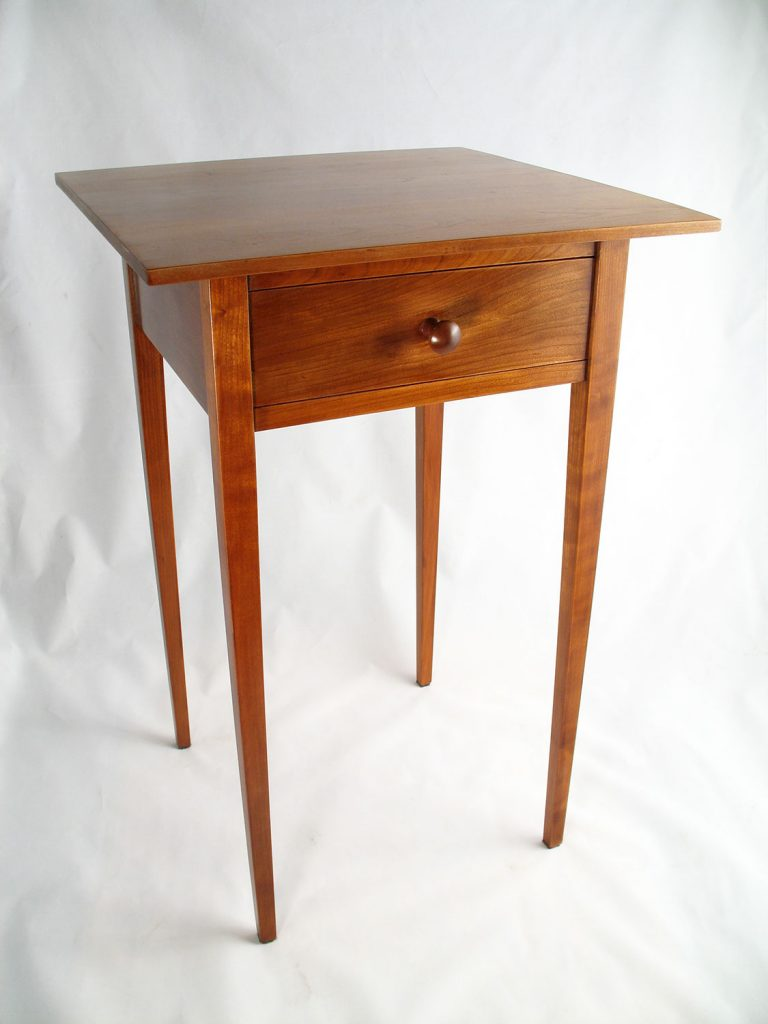 Shaker Side Table, Cherry by Kent Tittle