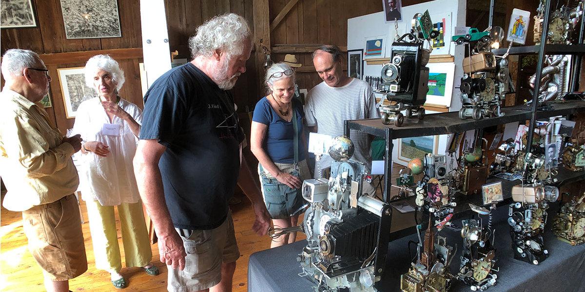 Richard Birkett Fantasy Clocks at the Fishers' Barn